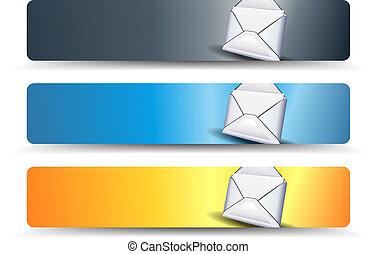 væv, bannere, email