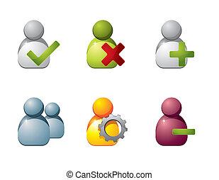 væv, bruger, iconerne
