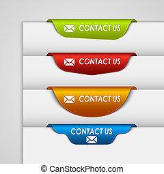 væv, farve, kontakt, bogmærke, udkant, etikette, side