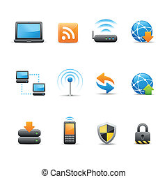 væv internet, og, iconerne