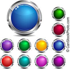 væv, og, site, knapper, ikon internet