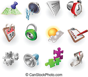 væv, sæt, farve, dynamik, ansøgning, ikon