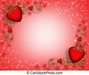 valentines, grænse, dag