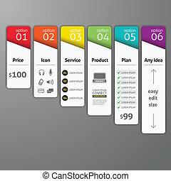 valgmuligheder, template., diagram, bruge, væv, foranstaltning, skabelon, vektor, infographics, konstruktion, element, blive, workflow, dåse, oppe, opsætning, antal, konstruktion, illustration., abstrakt, banner
