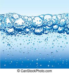 vand, bobler, gnistr, froth