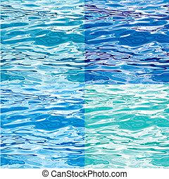vand mønster, variationer, seamless, overflade