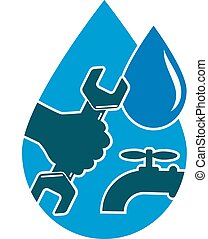 vand, reparer, sy, rørarbejde, forråd