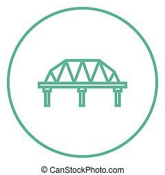 vej, skinne, icon., beklæde, bro