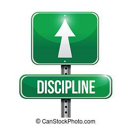 vej underskriv, illustration, disciplin