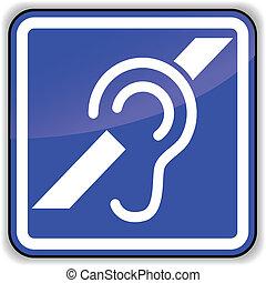 vektor, øre, tegn