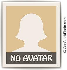 vektor, avatar, kvindelig