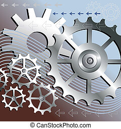 vektor, baggrund, mekanisk