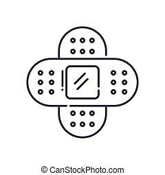 vektor, baggrund., tegn, begreb, hvid, udkast, ikon, editable, illustration, isoleret, puds, væv formgiv, beklæde, lineære, tynd, symbol, den agterste roer