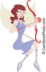 vektor, cupid, engel