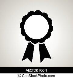 vektor, emblem, kendelse, bånd