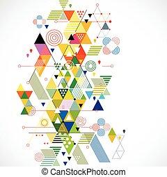 vektor, farverig, abstrakt, illustration, kreative, baggrund, geometriske