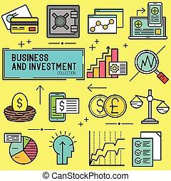 vektor, firma, investering