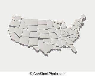 vektor, forenede stater, kort, 3