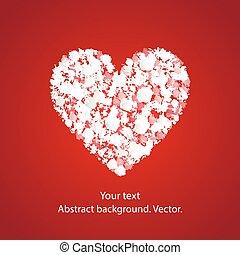 vektor, heart., baggrund