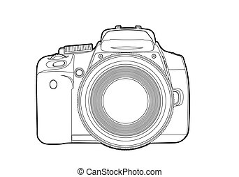 vektor, kamera