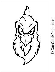 vektor, karakter, fugl, mascot