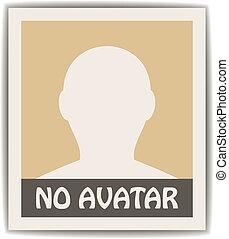 vektor, mandlig, avatar