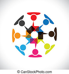 vektor, medier, begreb, og, kommunikation, vekselvirkning, sociale, graphic-