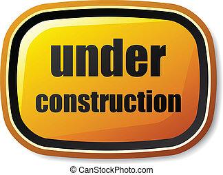 vektor, rounded, knap, konstruktion, under, rektangel