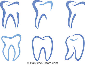 vektor, tænder