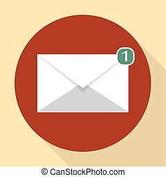 vektor, tegn, email