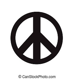 vektor, tegn, fred, illustration, ikon
