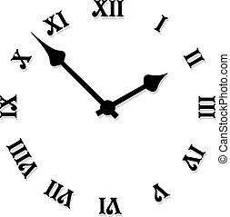 vektor, ur ansigt