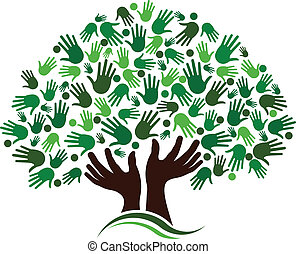 venskab, sammenhænge, træ, image.