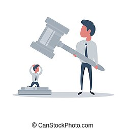 venter, gårdsplads, law., retfærdighed, issuance, anklaget, kendelse, person