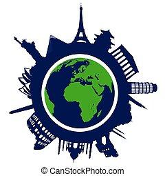 verden, landemærker