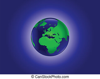 verden, vektor, illustration