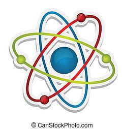 videnskab, abstrakt, ikon, atom