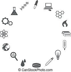 videnskab, iconerne