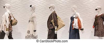 vindue, mode, mannequins