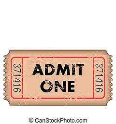 vinhøst, admission billet