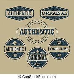 vinhøst, autentiske, original, etiketter