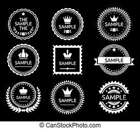 vinhøst, emblem, etikette
