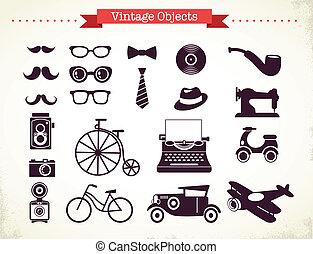 vinhøst, emne, hipster, samling