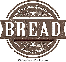 vinhøst, etikette, bagt, frisk brød