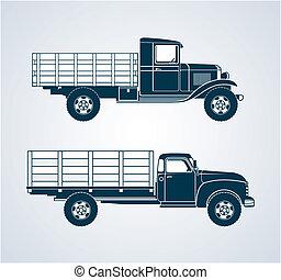 vinhøst, frugt, lastbiler