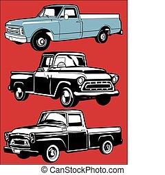 vinhøst, lastbiler