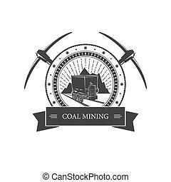 vinhøst, mining, emblem, indust