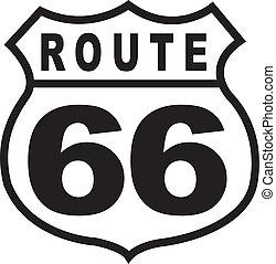vinhøst, rute, tegn, retro, 66, hovedkanalen