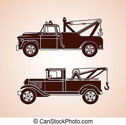vinhøst, tov, lastbiler