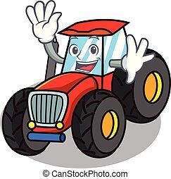 vink, firmanavnet, karakter, cartoon, traktor